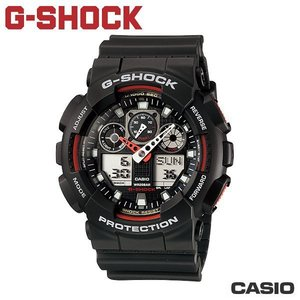 "CASIO GA-100-1A4《G-SHOCK ""BIG G""》THREE EYE 大錶徑(黑x紅)"