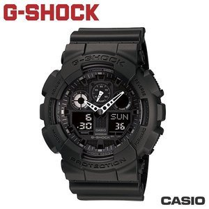 "CASIO GA-100-1A1《G-SHOCK ""BIG G""》THREE EYE 大錶徑(全黑)"
