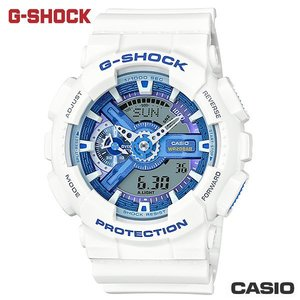 CASIO GA-110WB-7A《G-SHOCK熱門大錶徑設計款》52mm/白x海洋藍