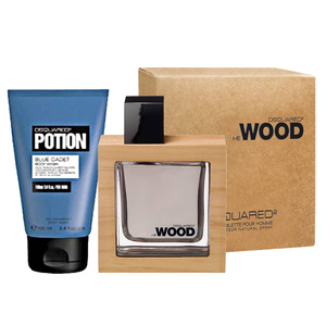 DSQUARED2 HE WOOD 男性淡香水(50ML)-送品牌沐浴精 100ml