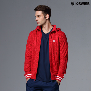 【K-Swiss】Allover Print Zip Up Jacket休閒外套-男