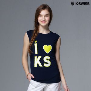 【K-Swiss】Graphic Tank Top印花無袖背心-女
