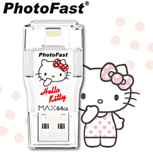 PhotoFast i-FlashDrive MAX Hello Kitty USB3.0 (64G) Apple 8pin雙頭龍隨身碟