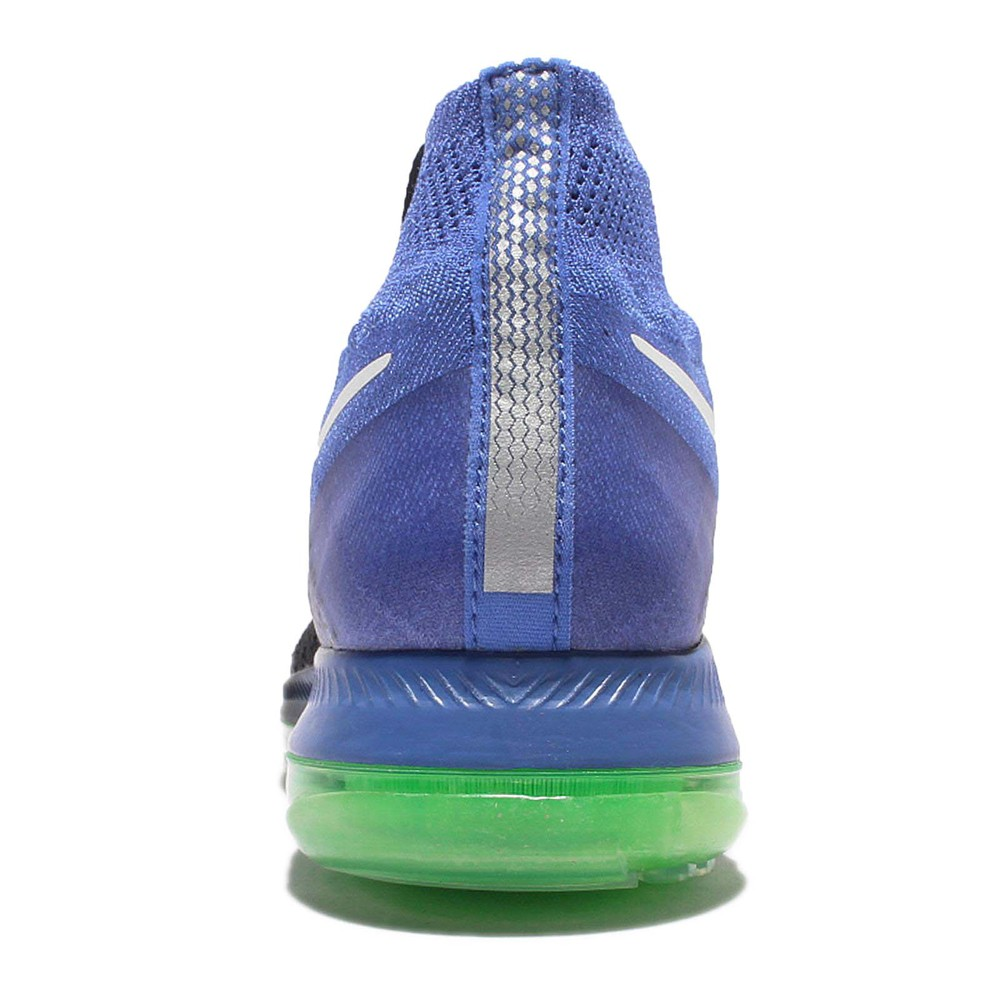 NIKE Wmns Zoom All Out 運動 女鞋 慢跑鞋 Flyknit 氣墊 編織 女 黑 藍 [845361-014]