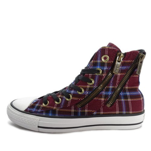 Converse Chuck Taylor All Star Dual Zip Plaid [549574C] Women Casual Shoes Wine